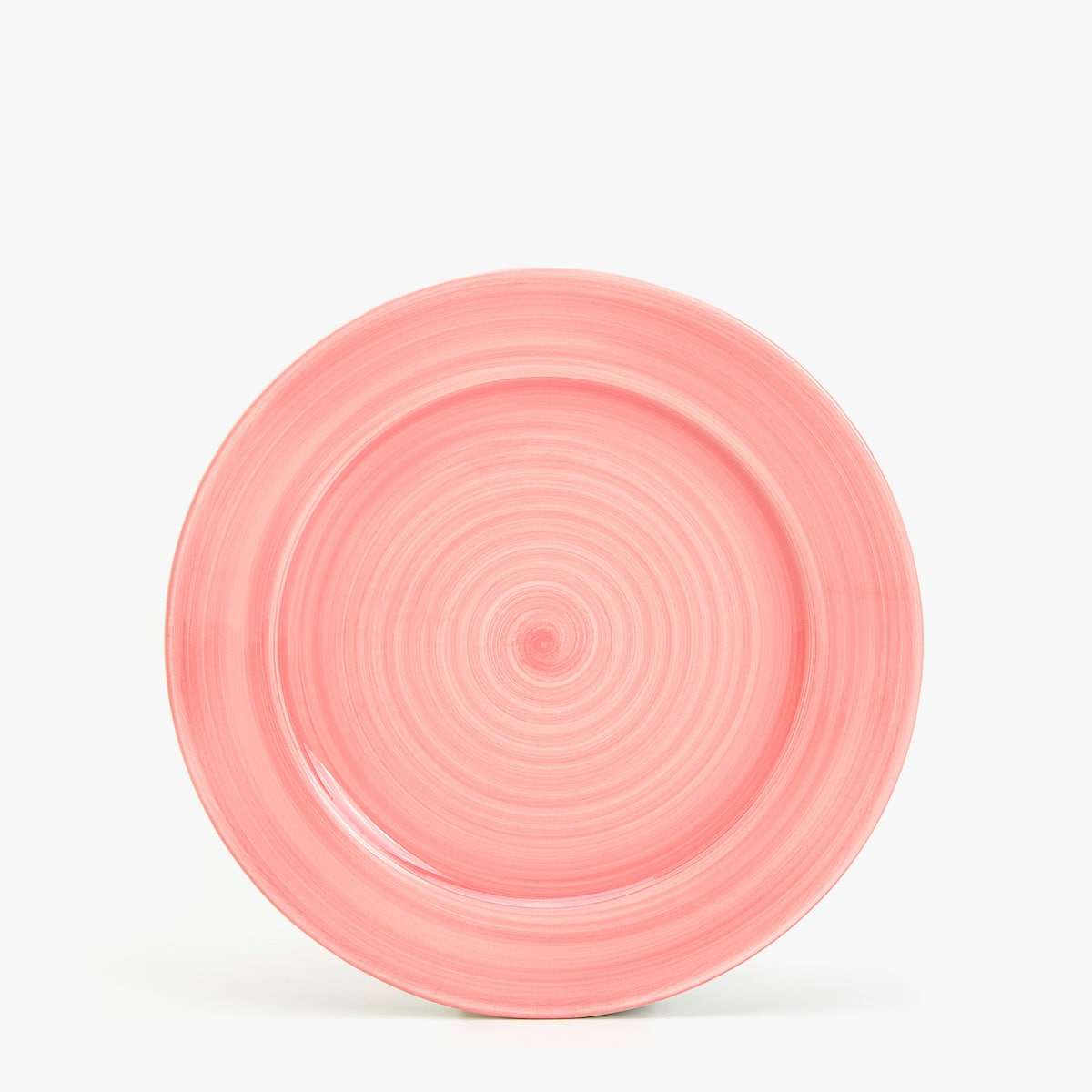 PINK EARTHENWARE TABLEWARE WITH SPIRAL DESIGN