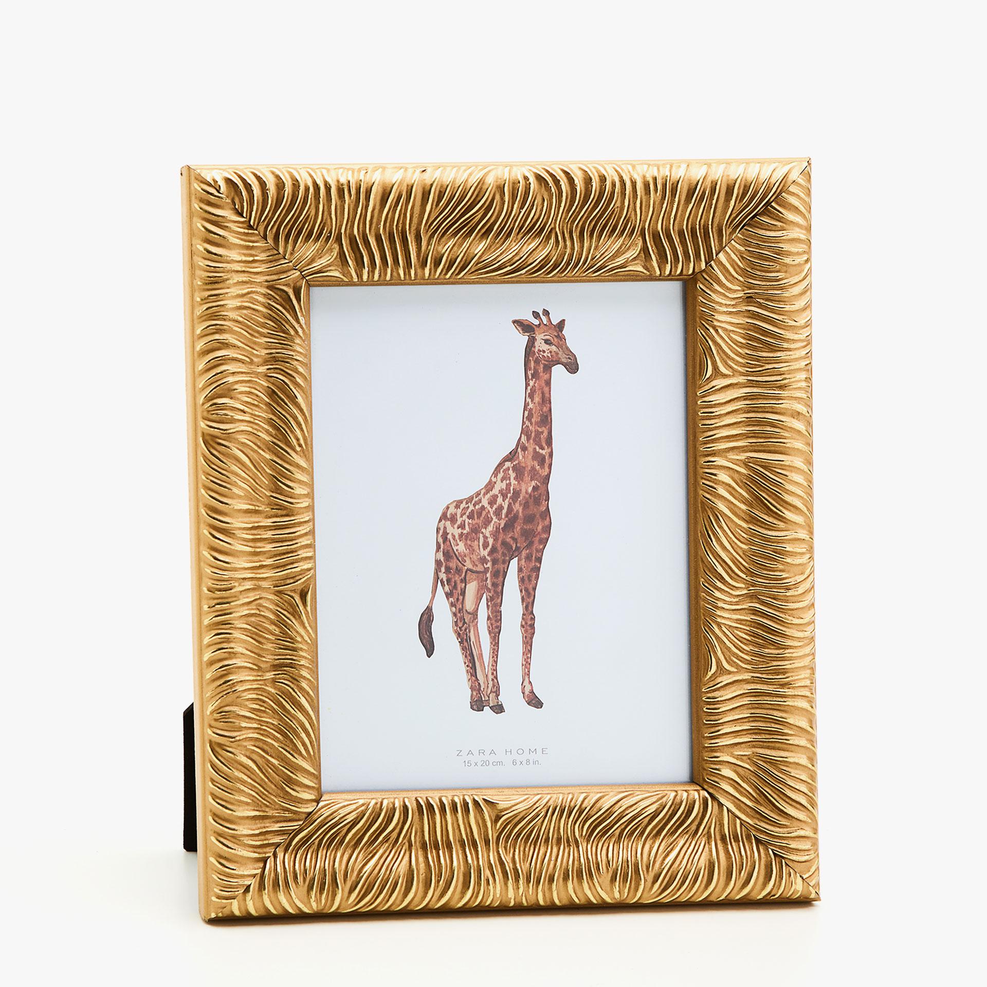 gold zebra print frame ethnic photo frames decoration zara