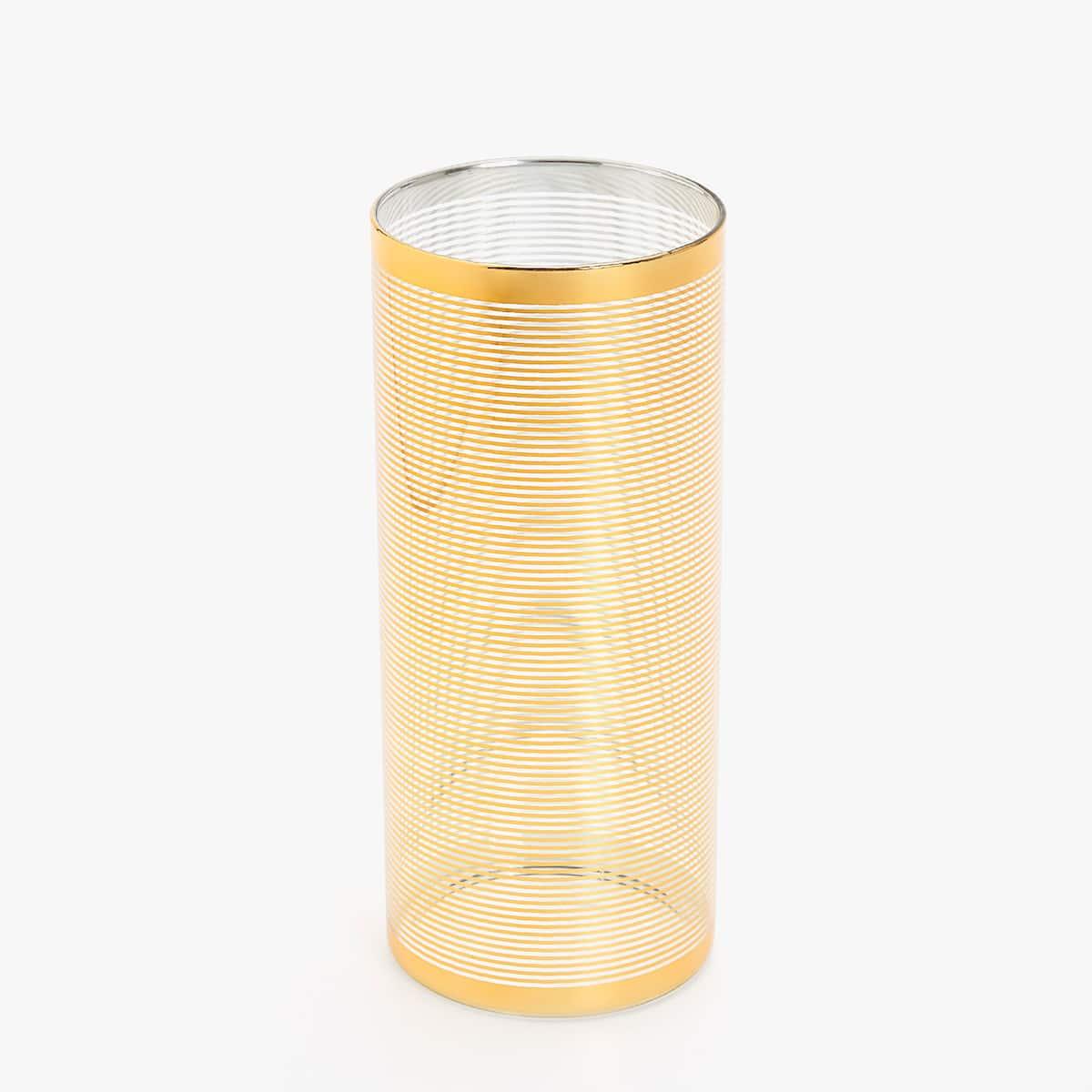 Afbeelding 1 van het product Vaas met goudkleurige strepen