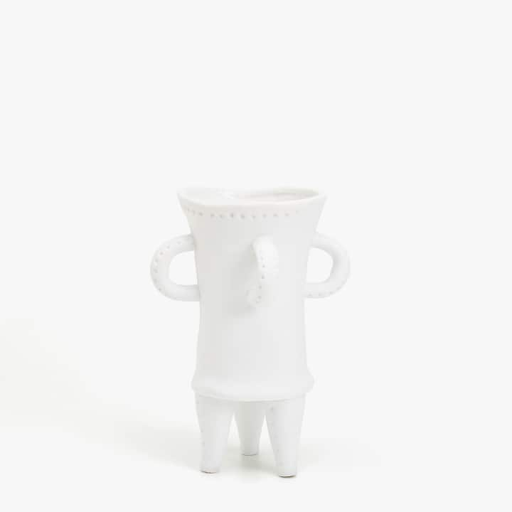Image Of The Product White Ceramic Decorative Figure