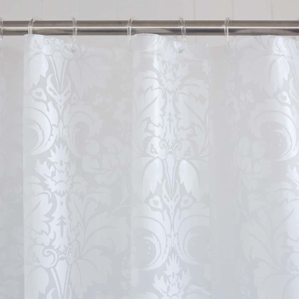 Image 2 Of The Product Large Damask Shower Curtain