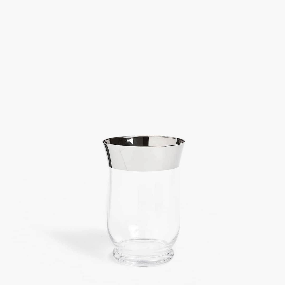 Afbeelding 1 van het product Vaas met zilverkleurige rand