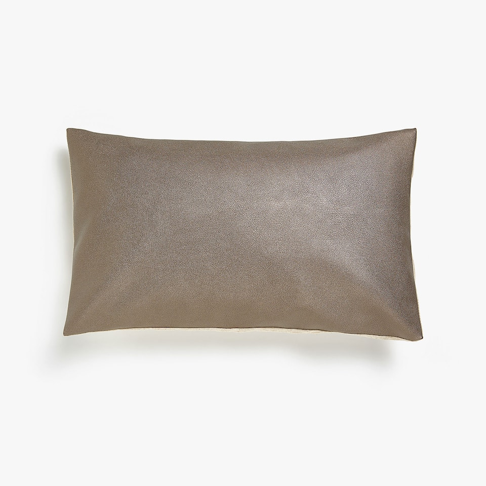 huge discount 194b1 6c75e Zara Plain faux leather cushion cover