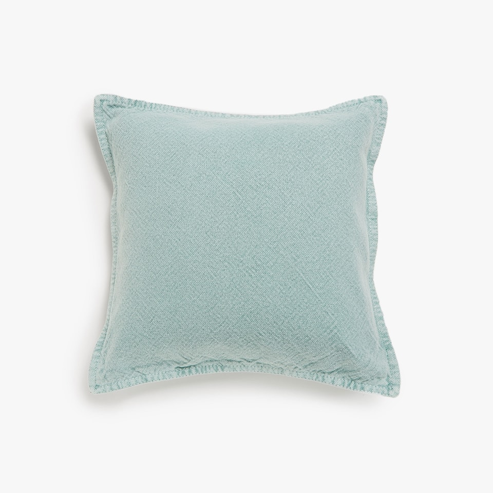 Faded coarse cotton cushion cover