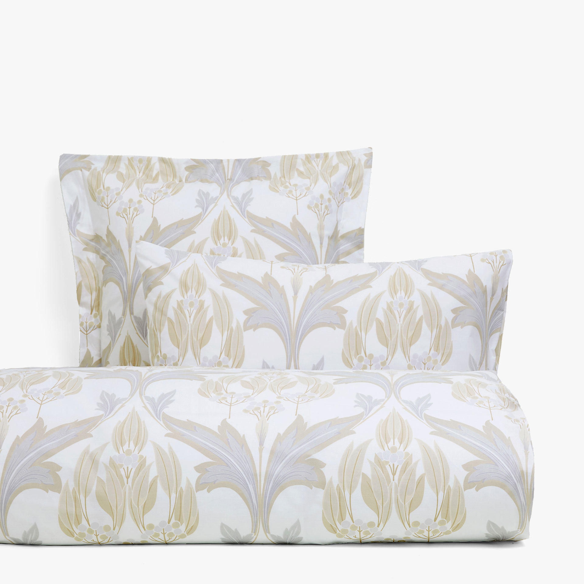 Gold and silver duvet cover with ornamental print DUVET COVERS
