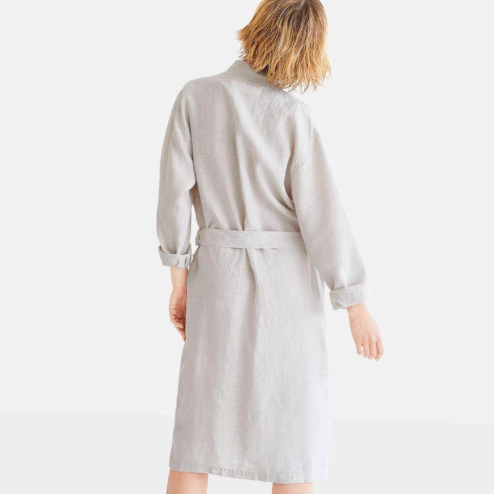 92db8aa0579 Zara LINEN BATHROBE