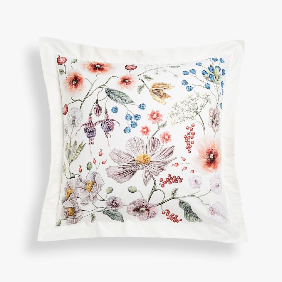 Zara Botanical print pillowcase
