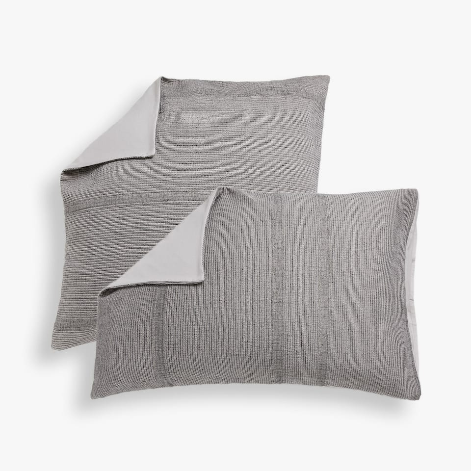 e644c43d3c Zara Washed seersucker pillowcase with dyed thread