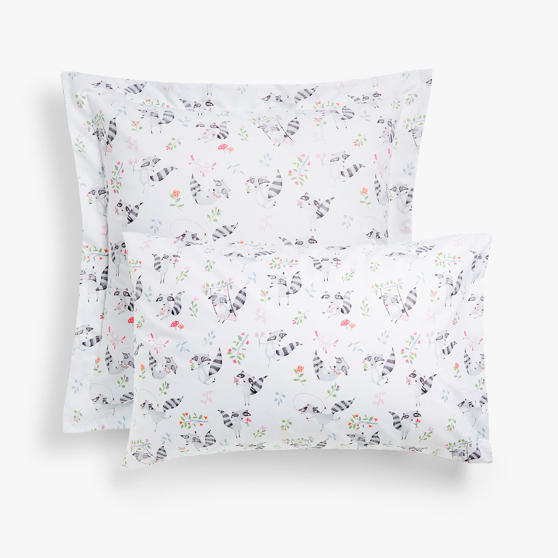raccoon print pillowcase pillow cases bedroom kids zara