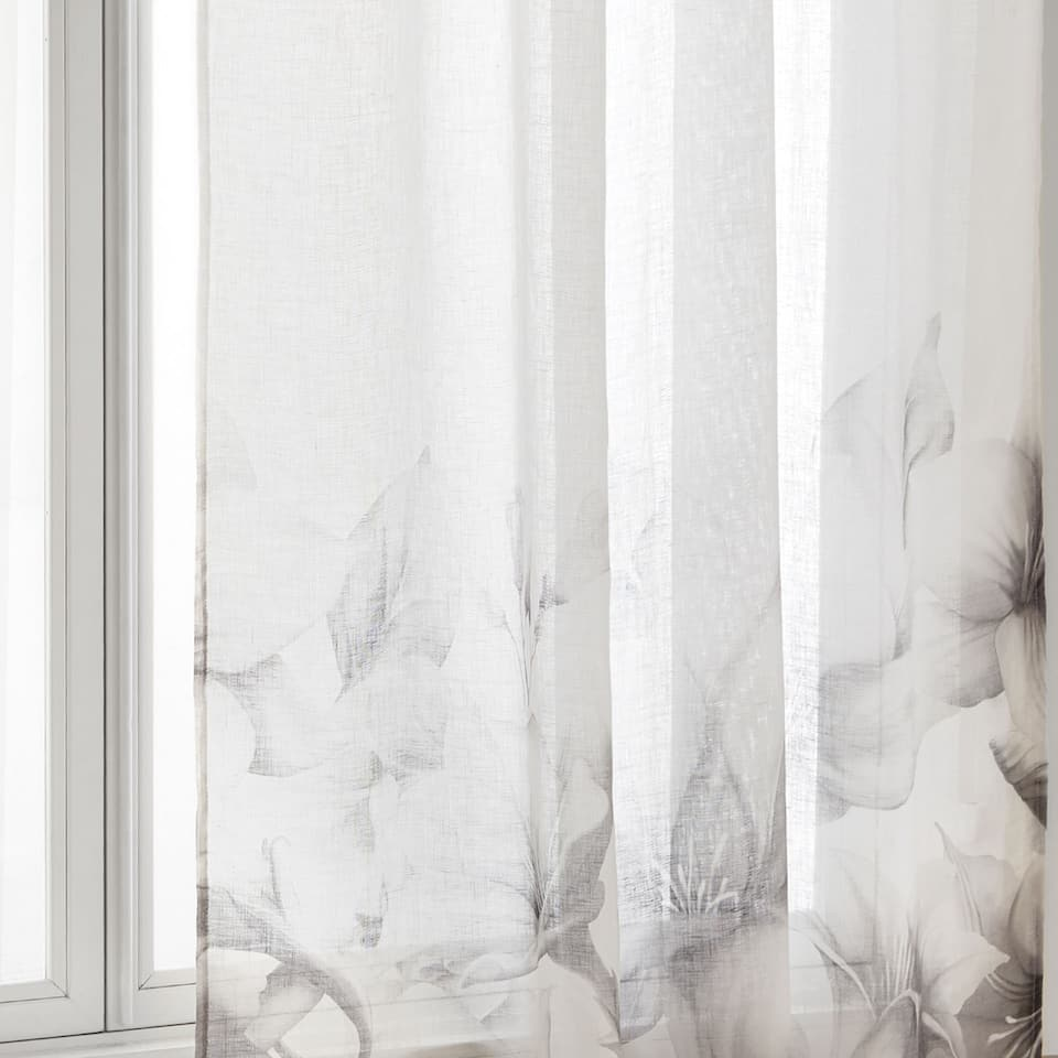 IRIS PRINT LINEN CURTAIN. CURTAINS   BEDROOM   Zara Home United Kingdom