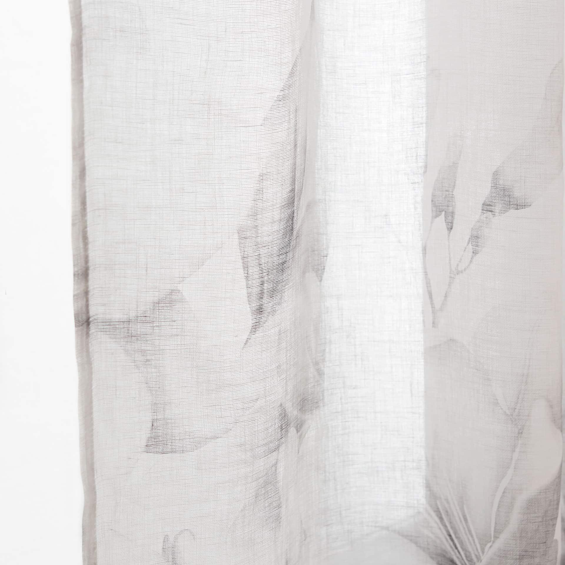 imagen del producto cortina lino estampado lirio