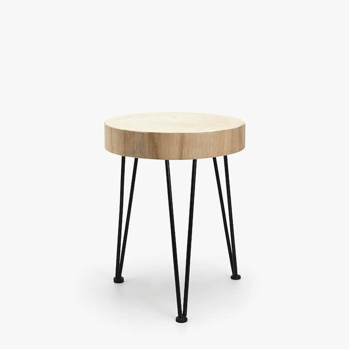 image of the product round stool with contrasting legs