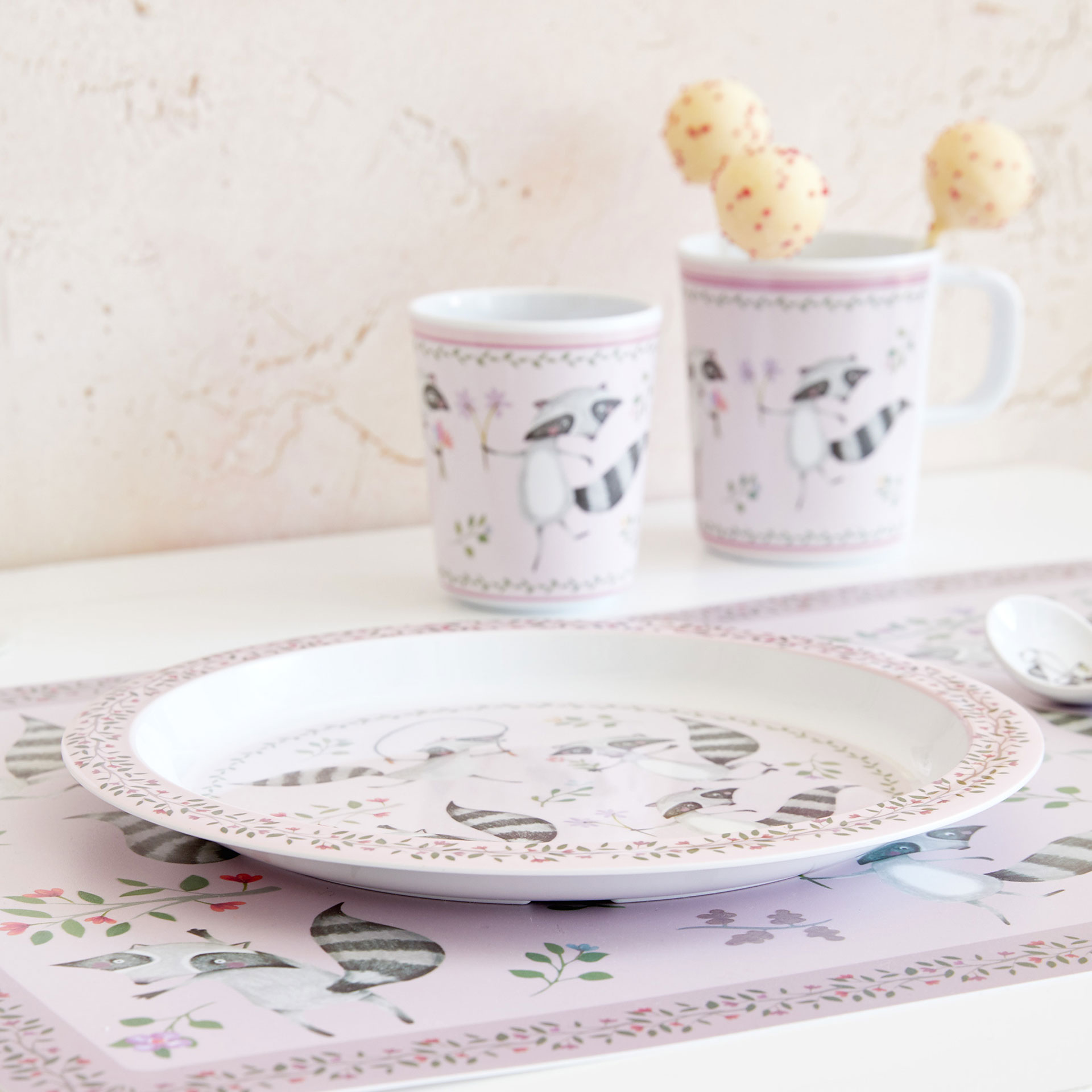 raccoon print placemat tableware tableware kids zara home