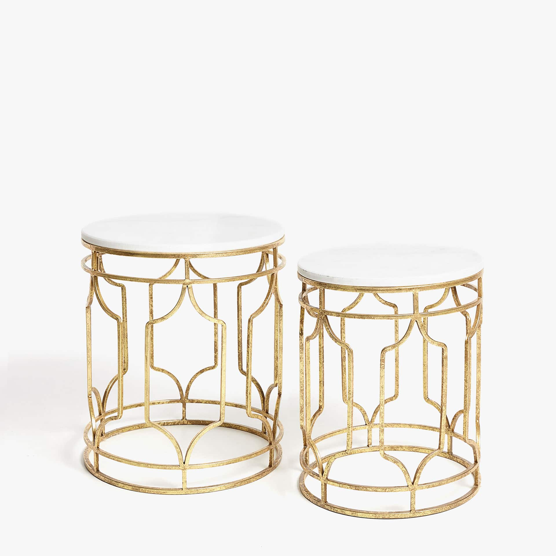 Nested tables with gold metal legs FURNITURE Decoration