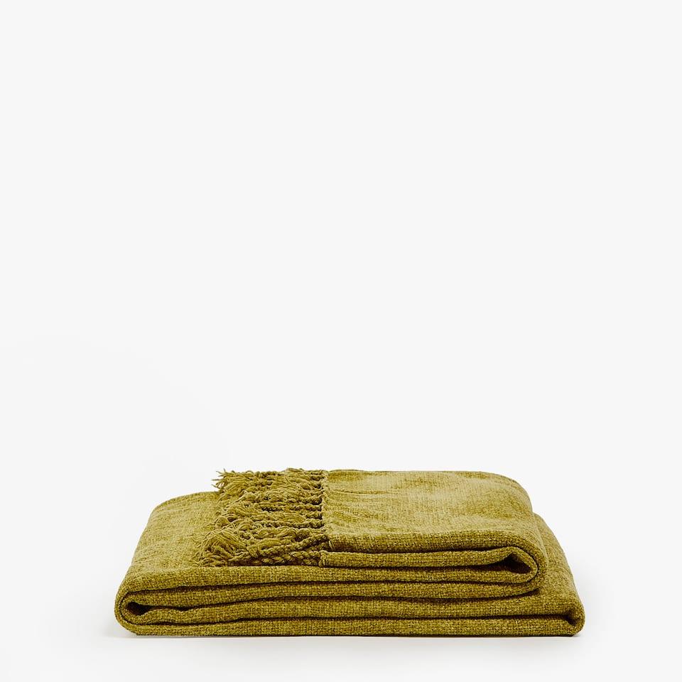 Zara PLAIN CHENILLE BLANKET ba94bf5fb39c9
