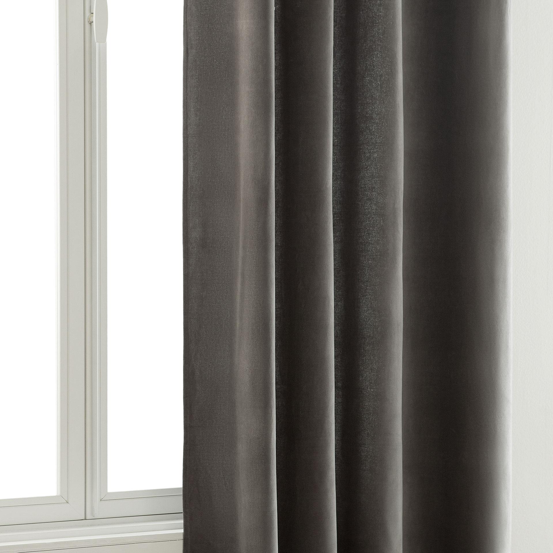 grey velvet curtain - Velvet Curtain