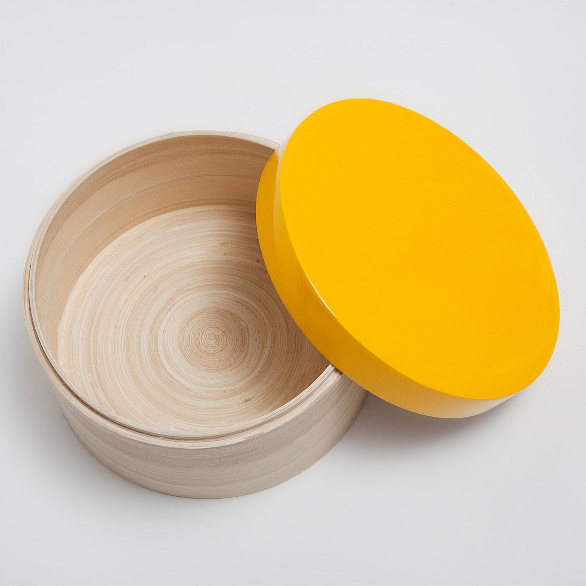 caja bamb y madera tapa amarilla