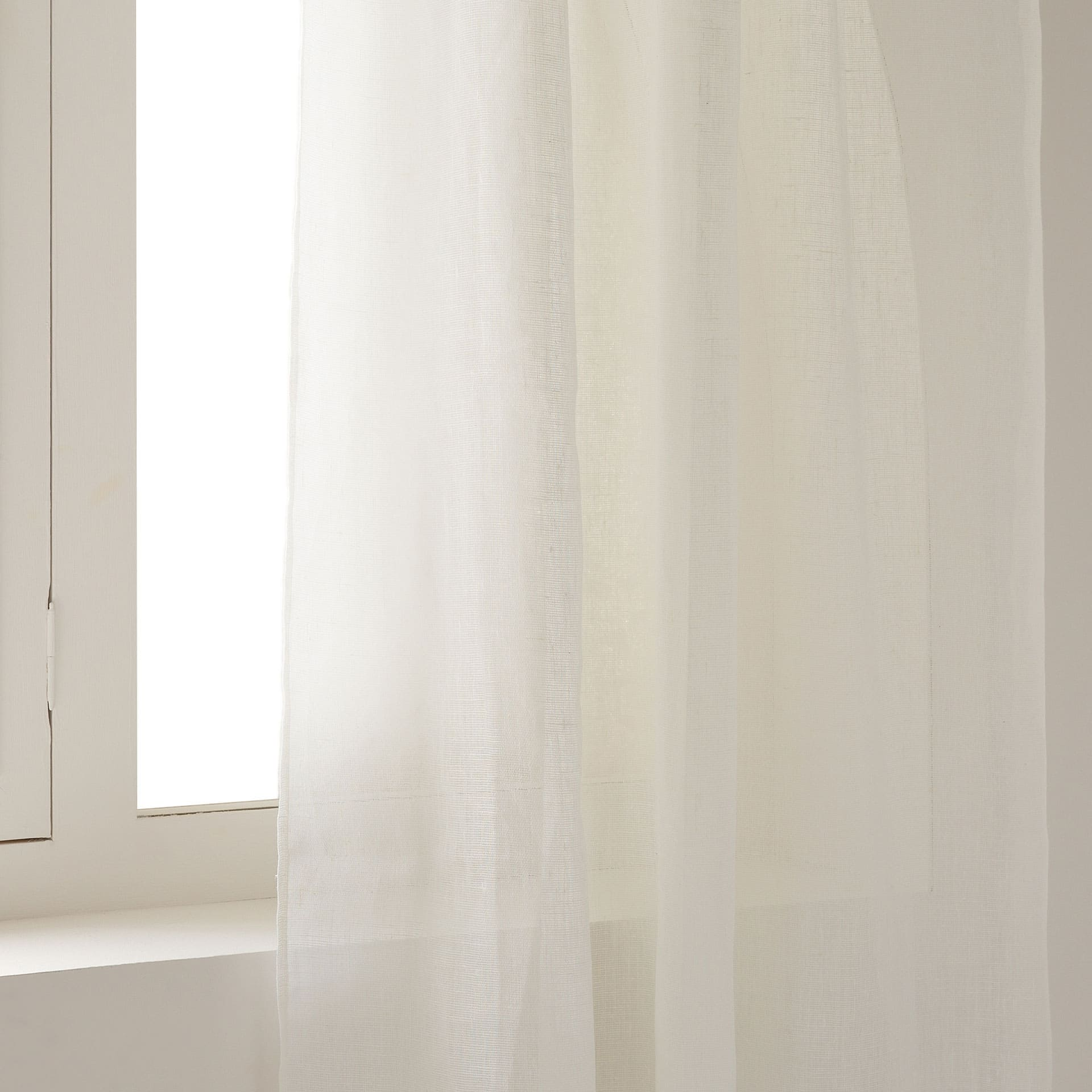image 1 of the product offwhite linen curtain