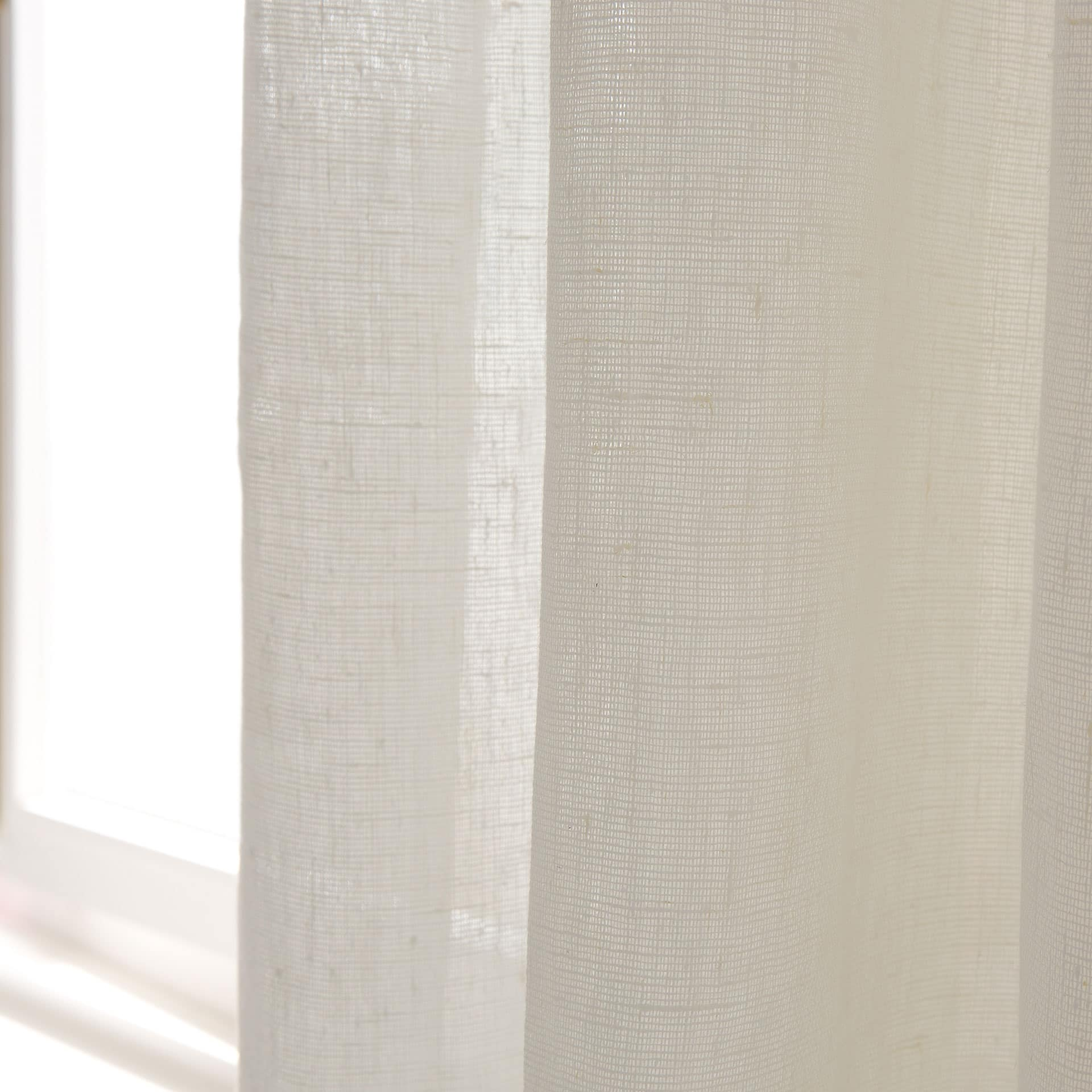 image 2 of the product offwhite linen curtain