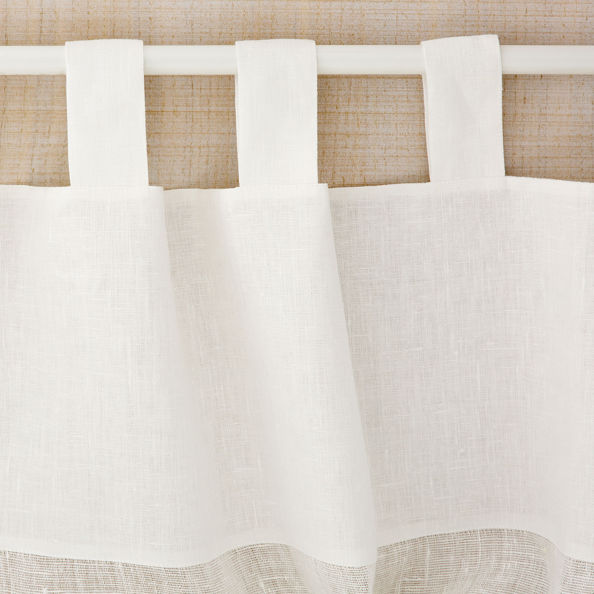 image 6 of the product offwhite linen curtain