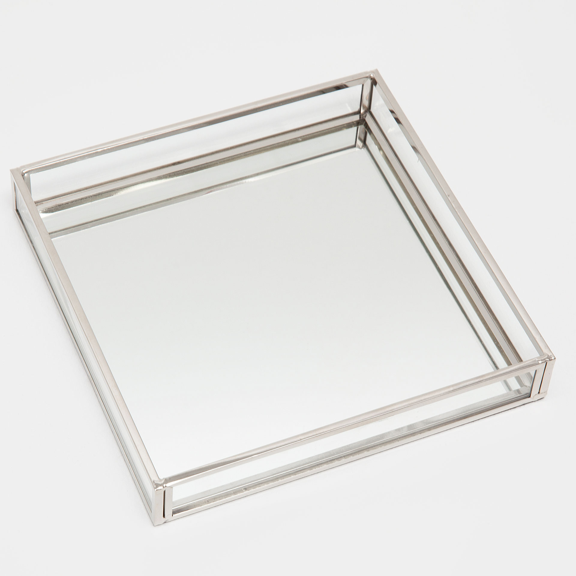image 4 of the product silver metal mirror decorative tray - Decorative Tray