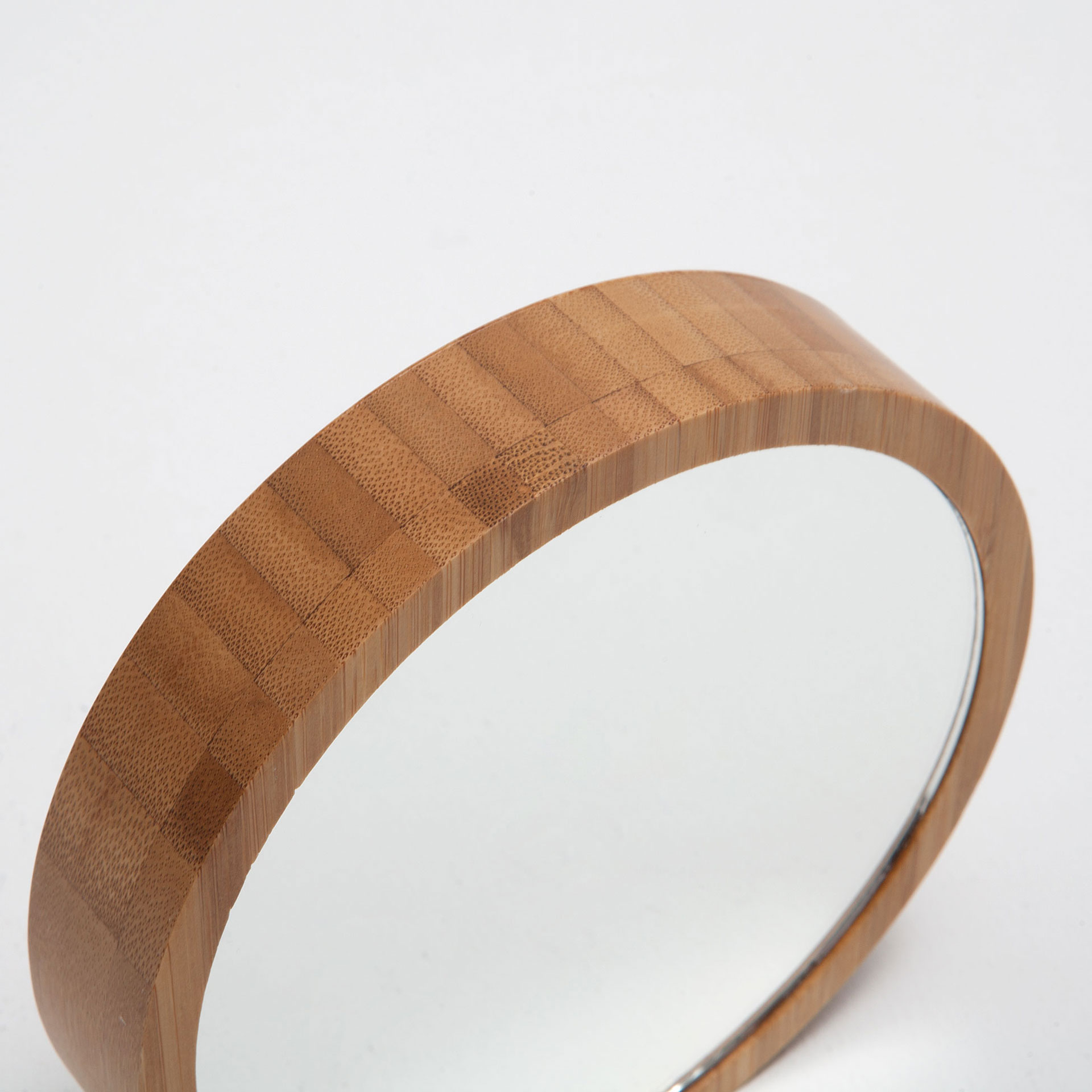image 4 of the product round bamboo frame mirror