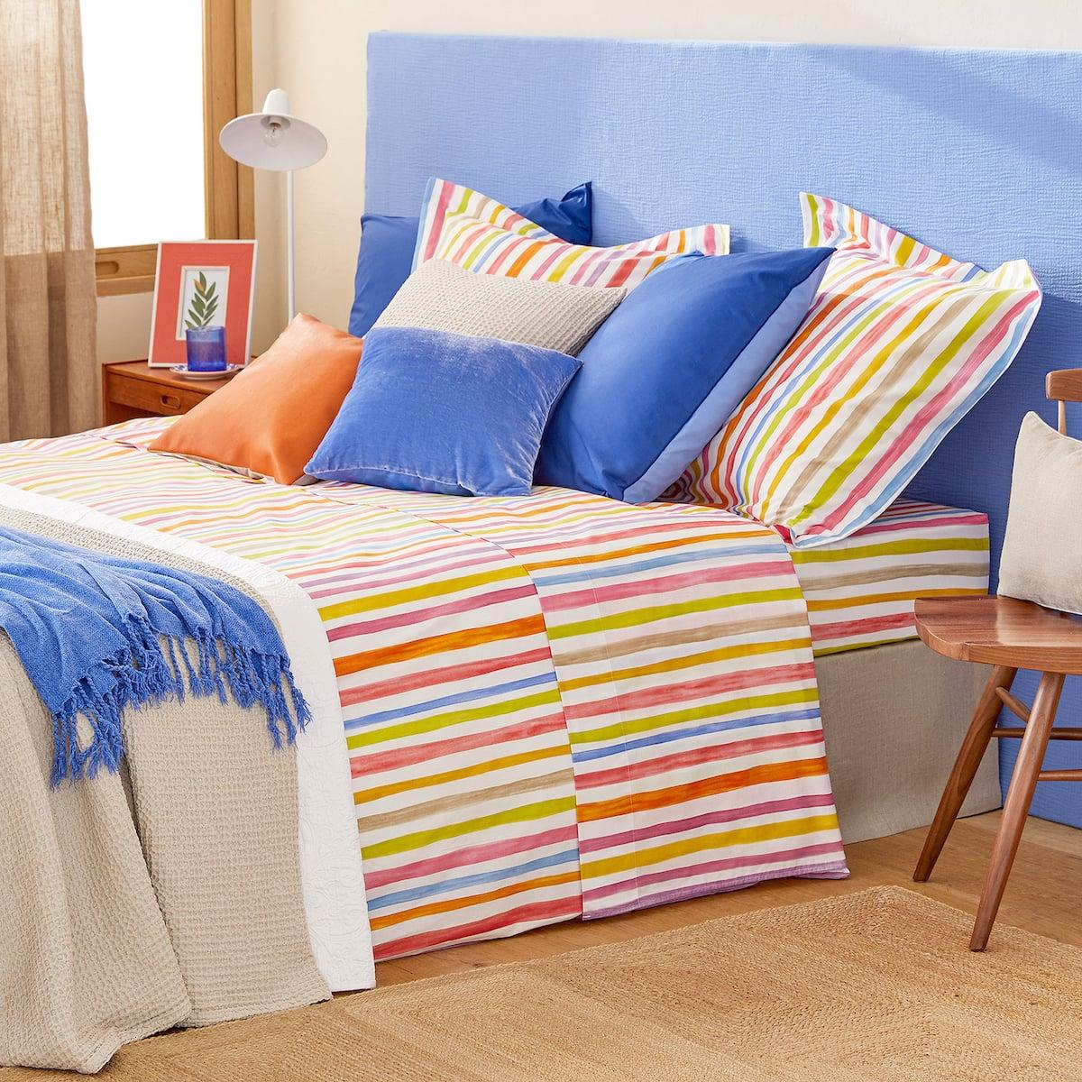 Afbeelding 2 van het product Dekbedovertrek met Veelkleurige Strepenprint