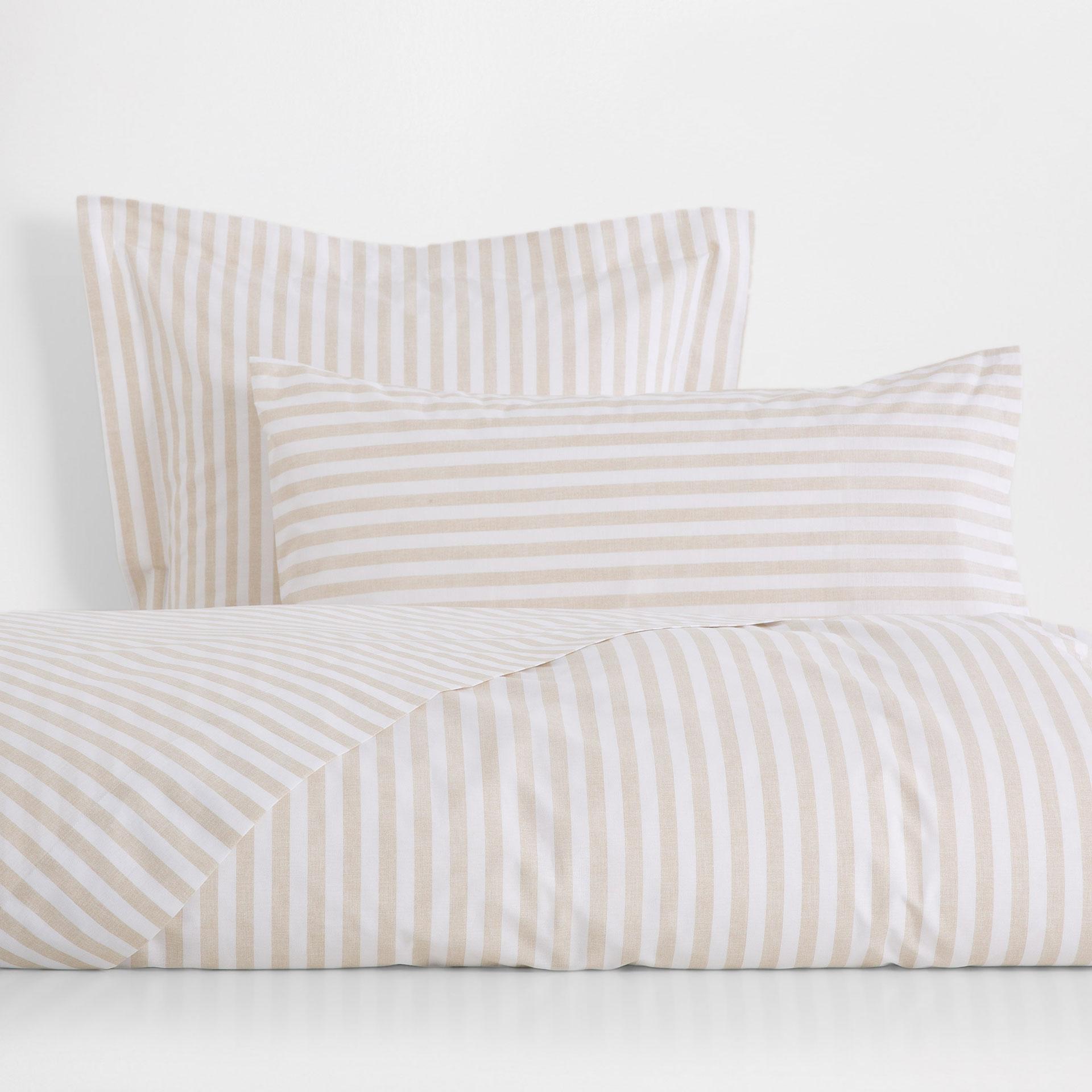 beige stripe print duvet cover  duvet covers  bedroom  zara  -  image  of the product beige stripe print duvet cover