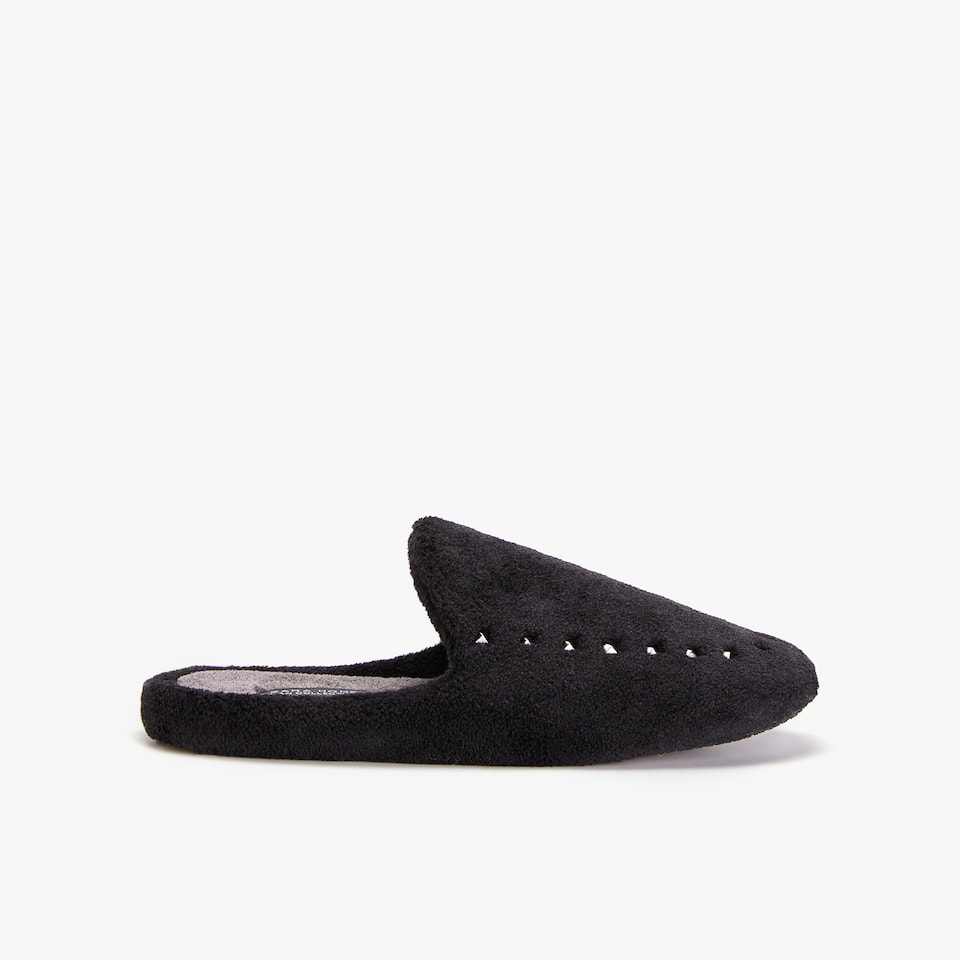 FAUX SHEARLING SLIPPERS WITH STUDS