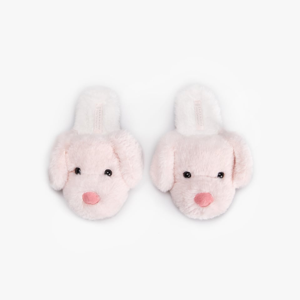 FURRY LITTLE FACE MULE SLIPPERS