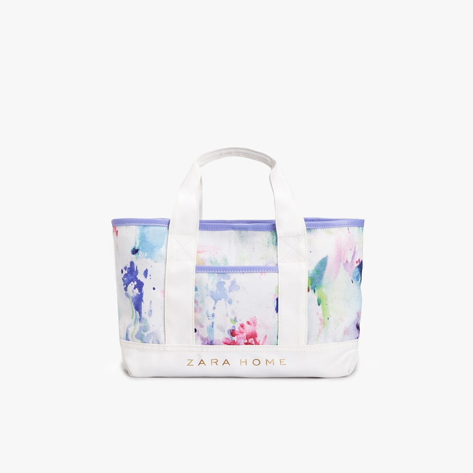 WATERCOLOUR PRINT MINI TOTE BAG