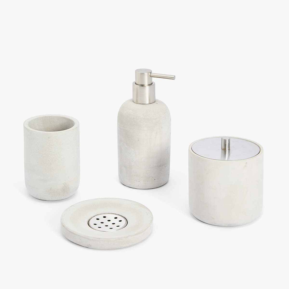 CEMENT BATHROOM SET - BATHROOM ACCESSORIES - BATHROOM | Zara Home ...