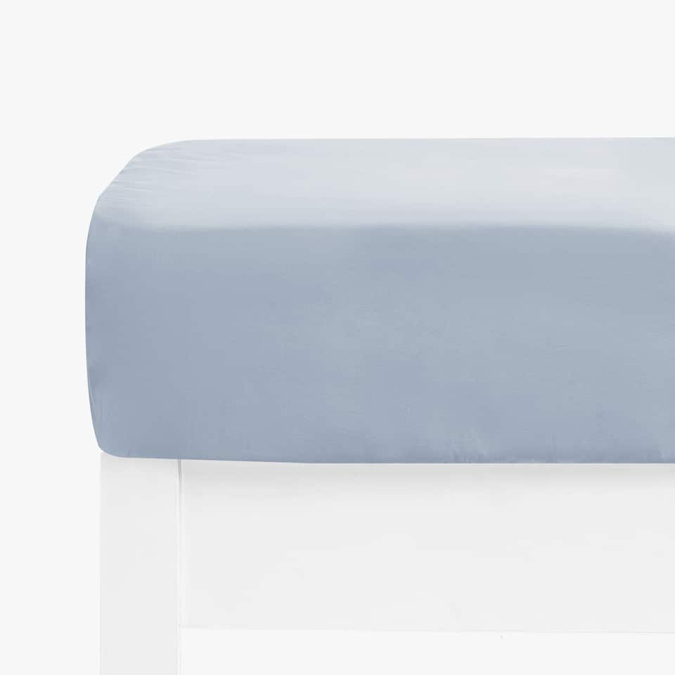 COTTON PERCALE FITTED SHEET (MATTRESSES OF UP TO 40 CM THICK)