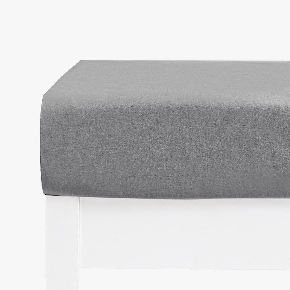 COTTON PERCALE FITTED SHEET (MATTRESSES OF UP TO 28 CM THICK)