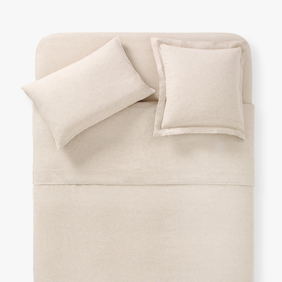 MELANGE-EFFECT FLANNEL DUVET COVER