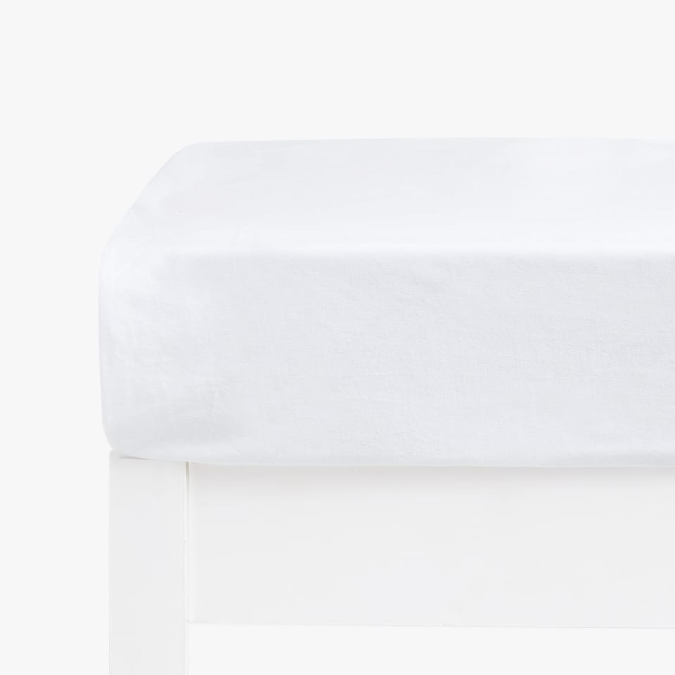 COTTON JERSEY FITTED SHEET (MATTRESSES OF UP TO 28 CM THICK)