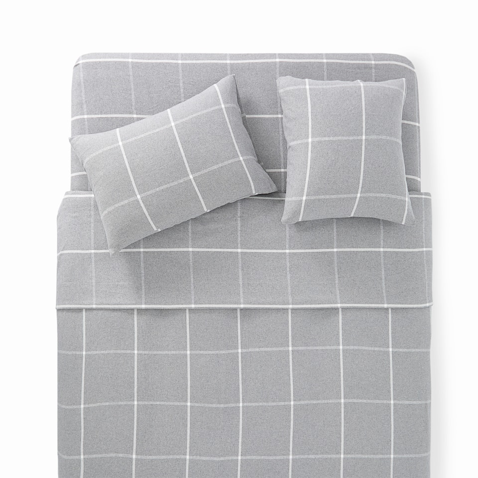 CHECKED FLANNEL DUVET COVER