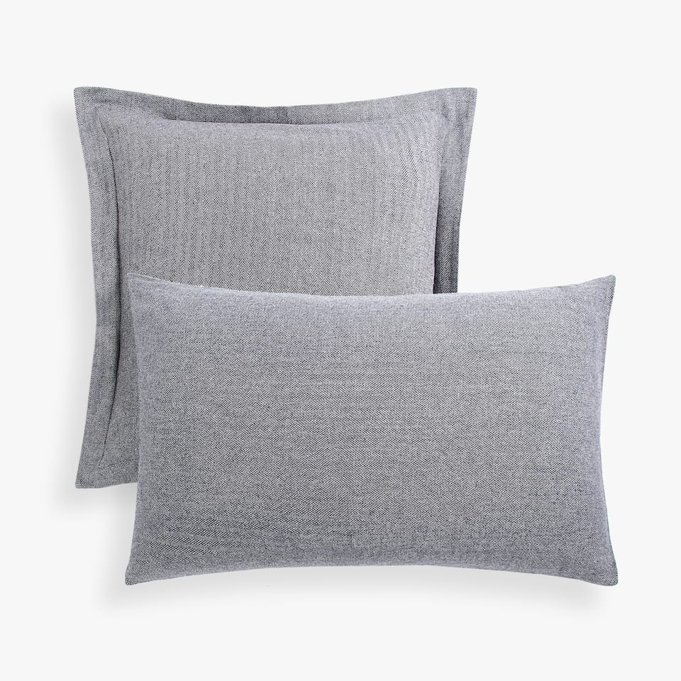 FLANNEL HERRINGBONE PILLOW CASE