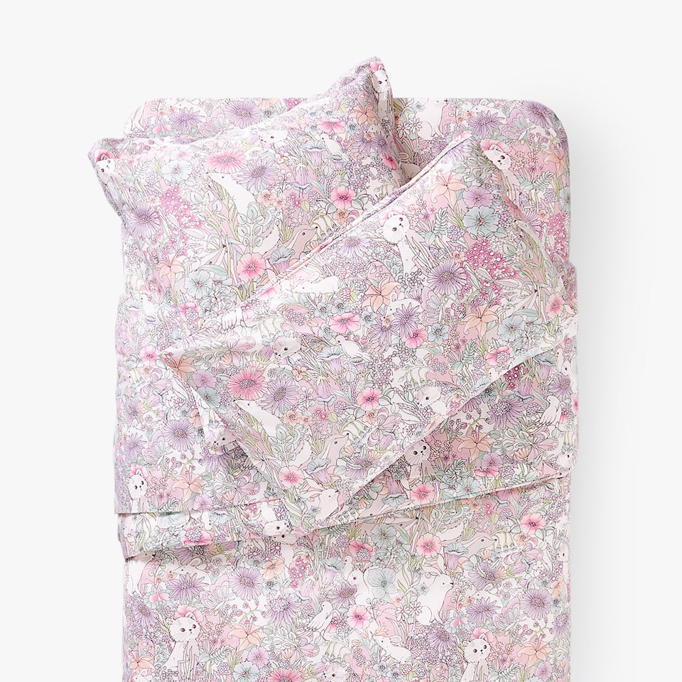 ANIMALS AND FLOWERS DUVET COVER