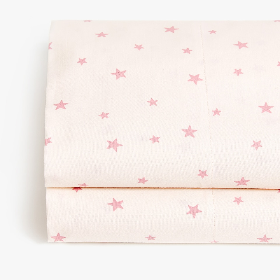 PINK STAR PRINT TOP SHEET