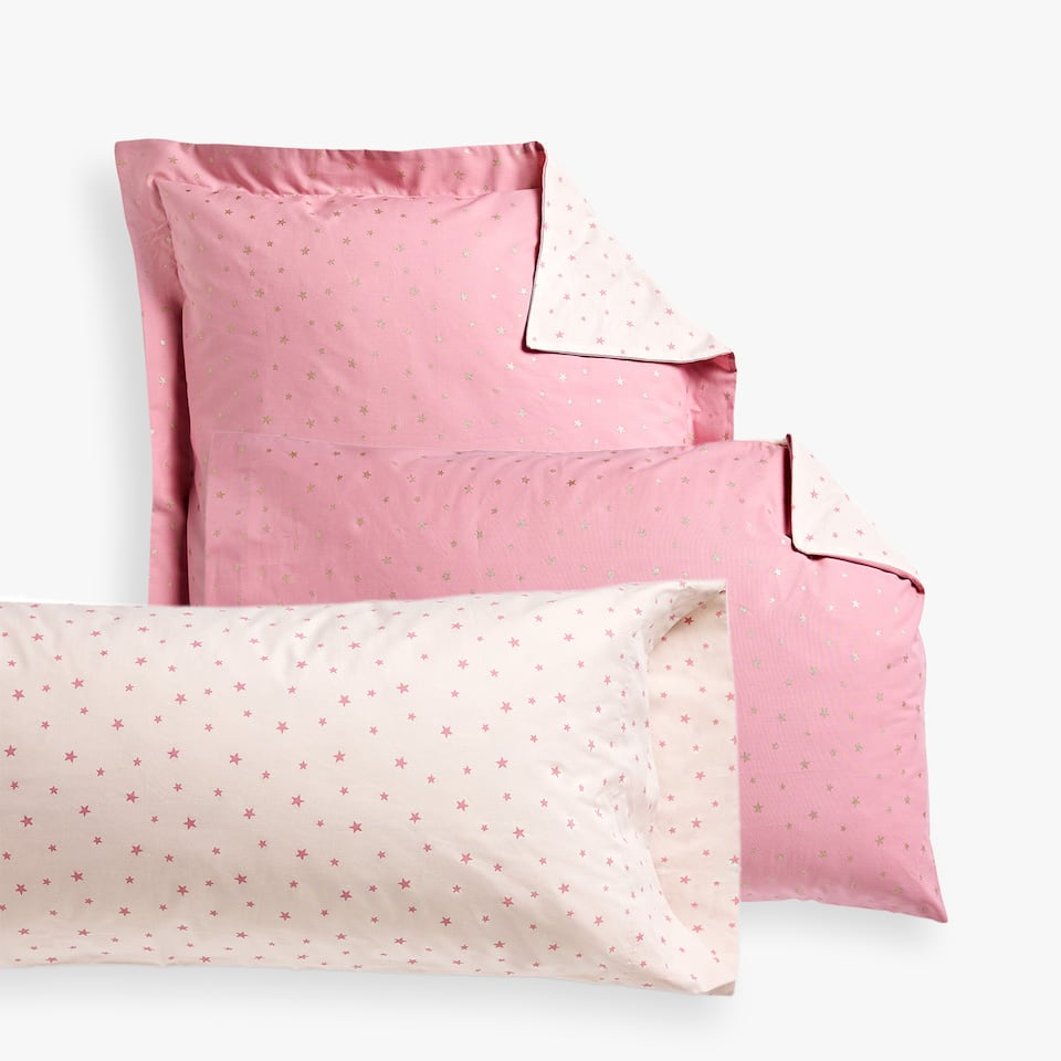 COMBINED STAR PRINT PILLOWCASE