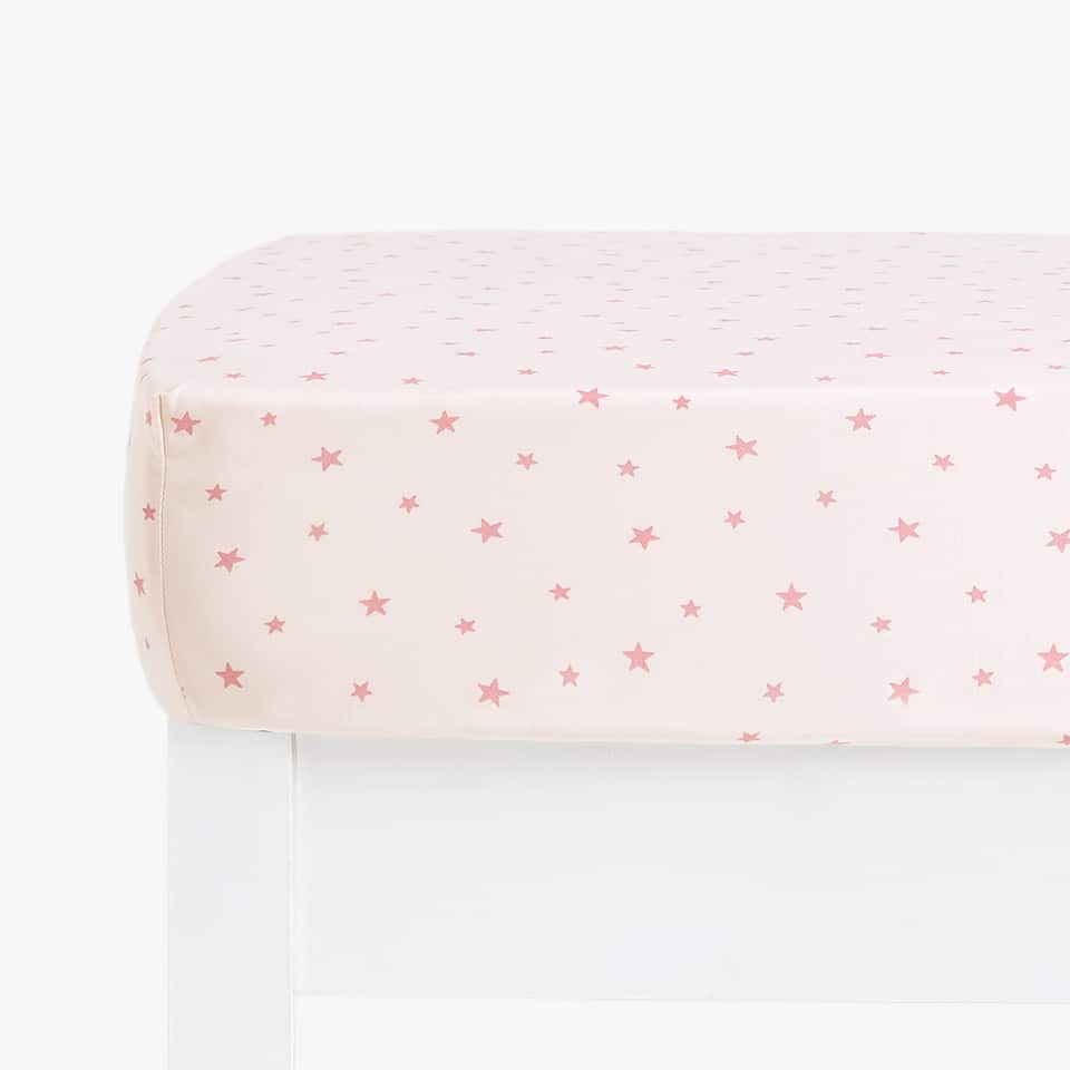 PINK STAR PRINT BOTTOM SHEET