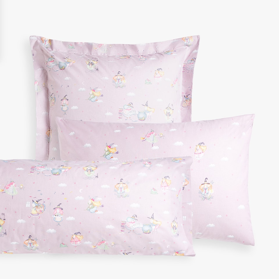 WITCHES PRINT PILLOWCASE