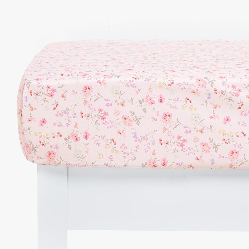 LITTLE FLOWER PRINT FITTED SHEET