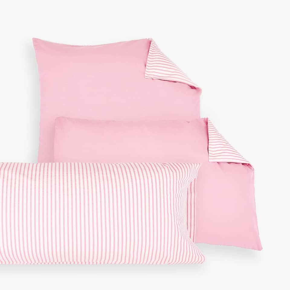 CONTRASTING STRIPES PILLOW CASE