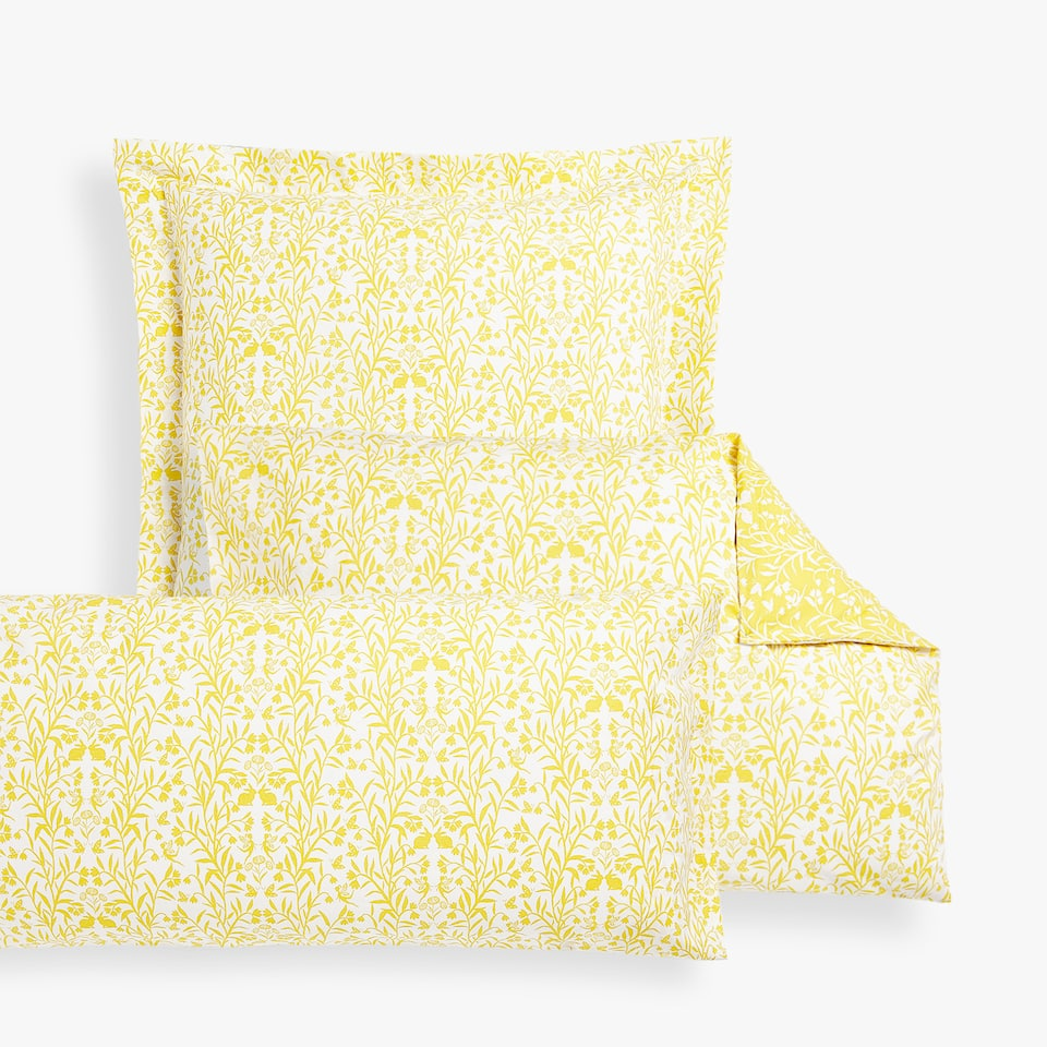 LEAVES PRINT PILLOWCASE