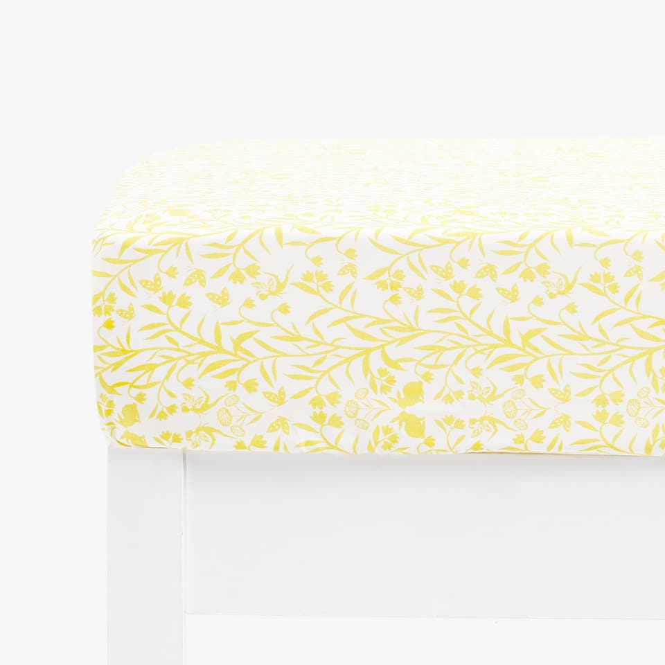 LEAF PRINT FITTED SHEET
