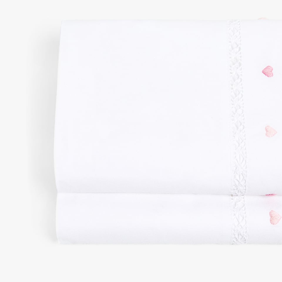 EMBROIDERED HEARTS TOP SHEET