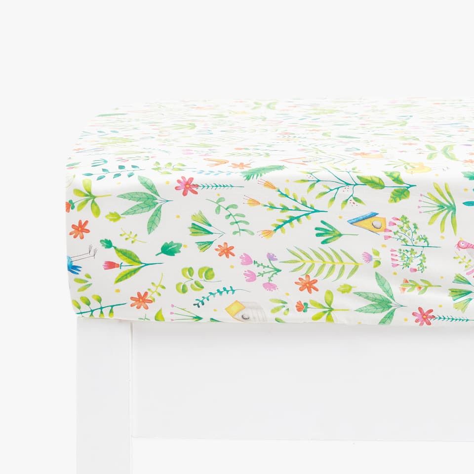 GARDEN PRINT FITTED SHEET