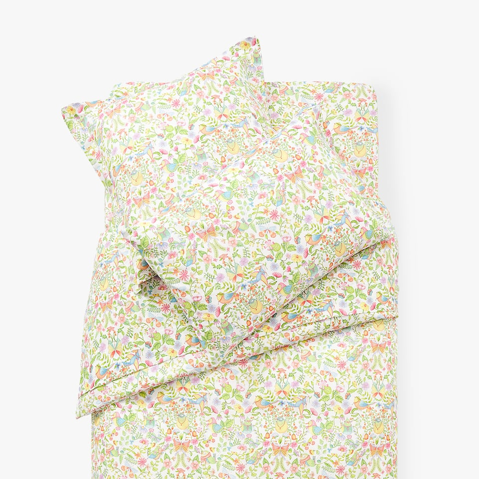 FLOWERS AND BIRDS DUVET COVER